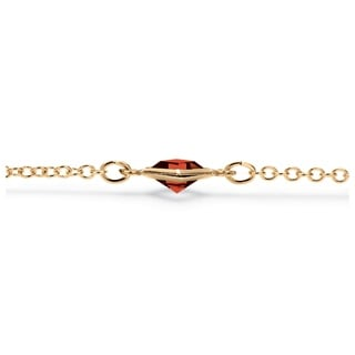 """PalmBeach Princess-Cut Birthstone Station Necklace in Yellow Gold Tone 48"""" Color Fun"""