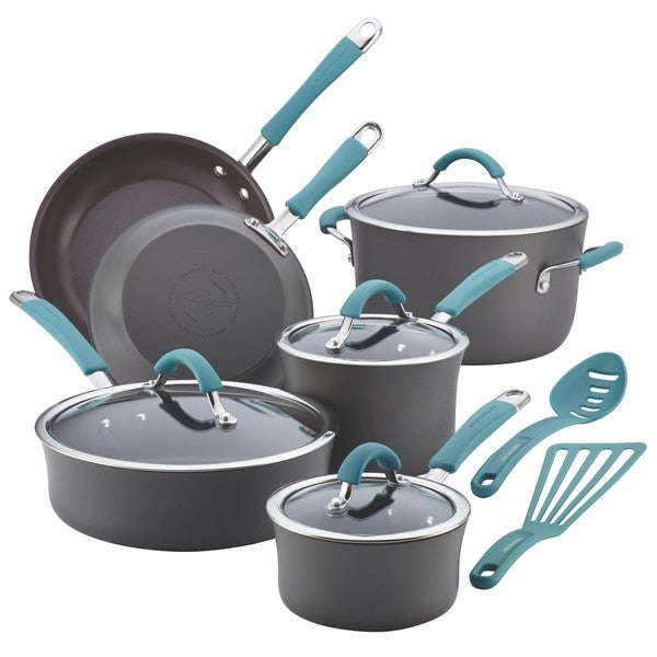 Rachael Ray Cucina Hard-anodized Nonstick 12-piece Cookware Set 13368417
