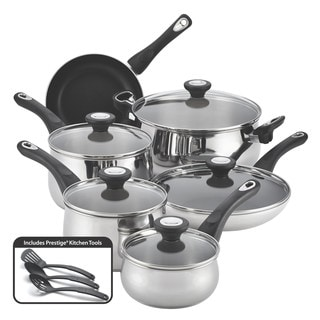 Farberware New Traditions Stainless Steel 14-piece Cookware Set