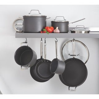 Anolon Authority Grey Hard-anodized Nonstick 12-piece Cookware Set