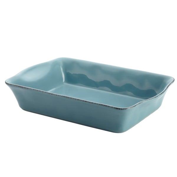 Rachael Ray Cucina Agave Blue Stoneware Rectangular Baker 13368470