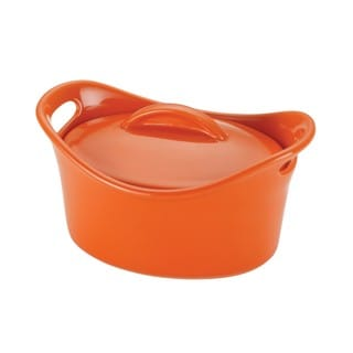Rachael Ray Orange Stoneware 18-ounce Mini Oval Casserole Dish