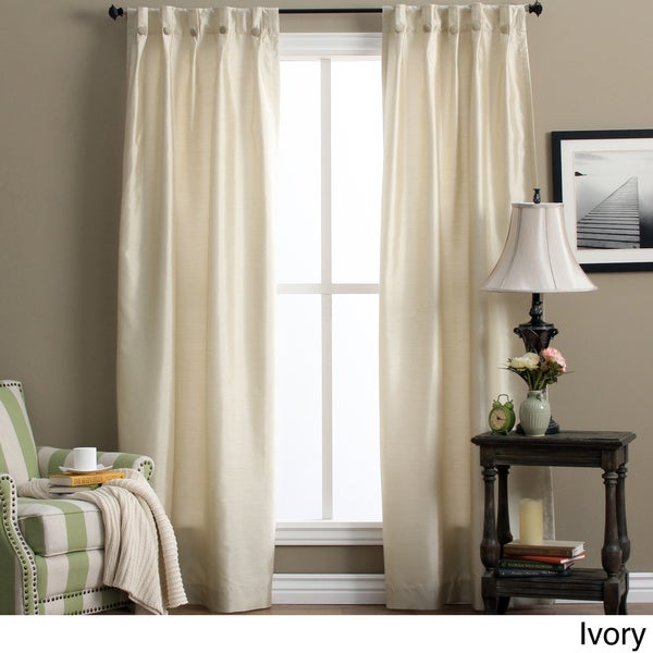 Artisan Double Width Box-pleated Back Tab Curtain Panel Pair