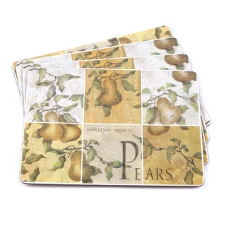 Pears Italian-inspired Scenic and Vino Placemats (Set of 4)