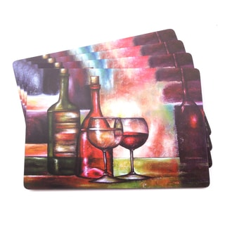 Wine Painting Italian-inspired Scenic and Vino Placemats (Set of 4)