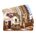 Florence Italian-inspired Scenic and Vino Placemats (Set of 4)