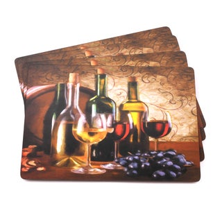 Grapes Italian-inspired Scenic and Vino Placemats (Set of 4)