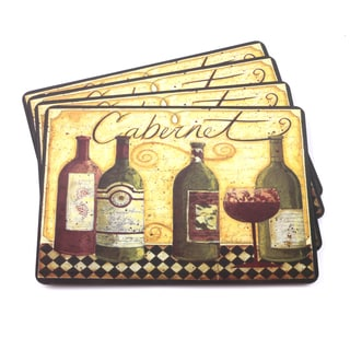 Cabernet Italian-inspired Scenic and Vino Placemats (Set of 4)