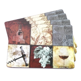 Wine Block Italian-inspired Scenic and Vino Placemats (Set of 4)