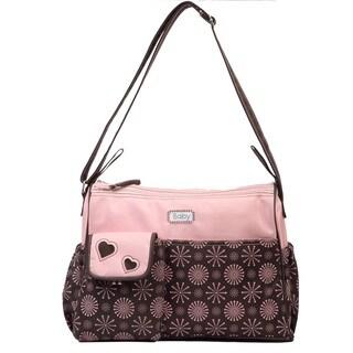 Bellotte Pink Snow Double Zip Shoulder Diaper Bag