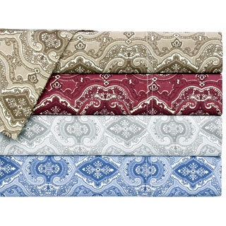 Cotton Lorena 300 Thread Count Paisley Sheet Set