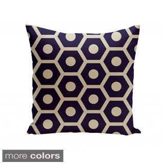 16 x 16-inch Honeycomb Print Geometric Decorative Throw Pillow