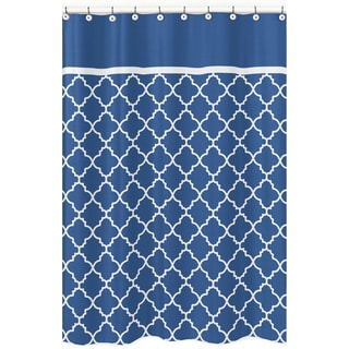 Sweet Jojo Designs Blue/ White Trellis Shower Curtain