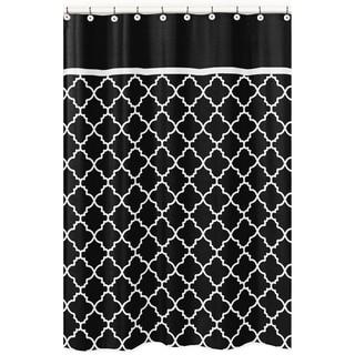 Sweet Jojo Designs Black/ White Trellis Shower Curtain
