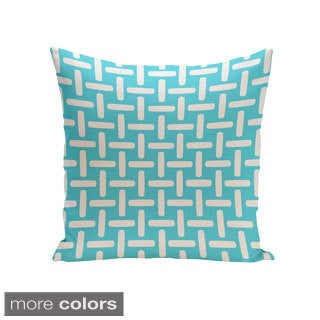 16 x 16-inch Basket Weave Print Decorative Throw Pillow
