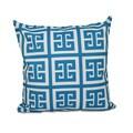 18 x 18-inch Large Greek Key Print Geometric Decorative Throw Pillow
