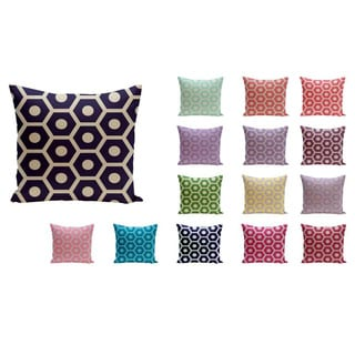 18 x 18-inch Hexagon Print Geometric Decorative Throw Pillow