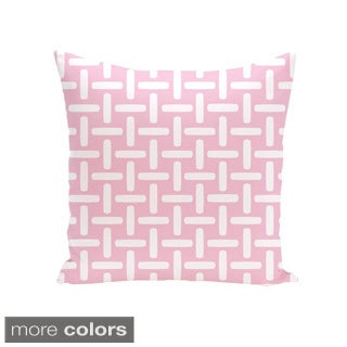 18 x 18-inch Two-tone Printed Geometric Decorative Throw Pillow