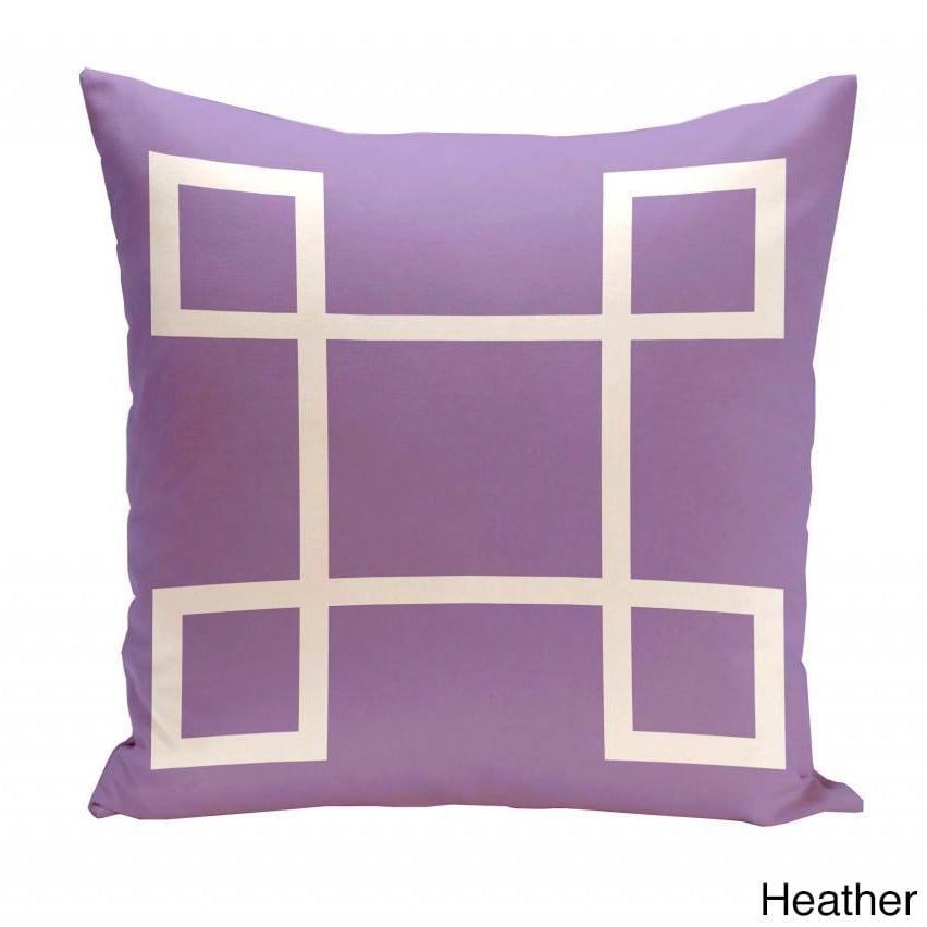 E By Design 18 x 18-inch Geometric Print Decorative Throw Pillow