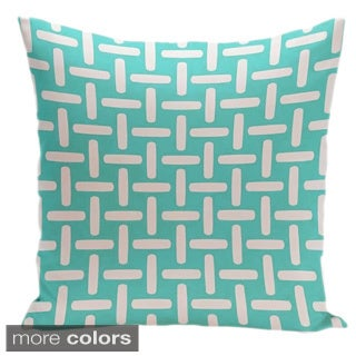 26 x 26-inch Large Basket Weave Print Decorative Throw Pillow