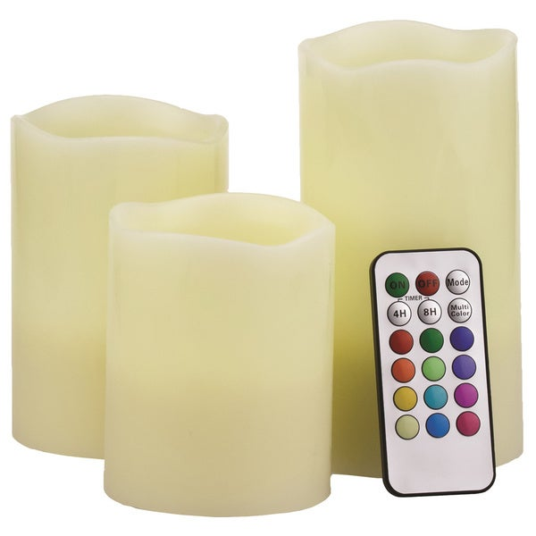 S3 Round Flameless Candles