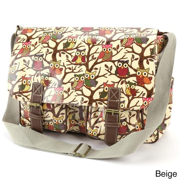 Owl Print Crossbody Bag
