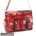 Butterfly Oilcloth Canvas Strap Cross Body Bag