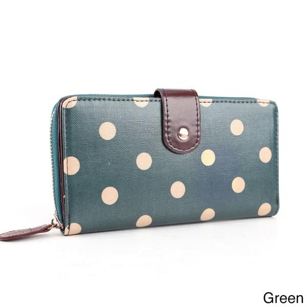 Polka-dot Oilcloth Wallet