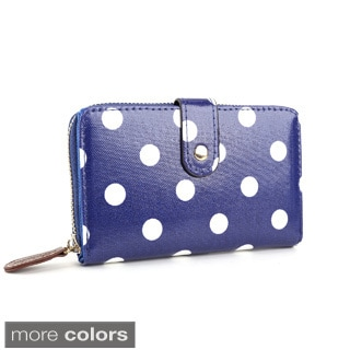 Polka-dot Print Leatherette Wallet