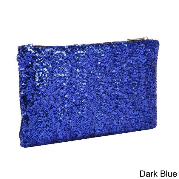 Sequin-embellished Evening Clutch