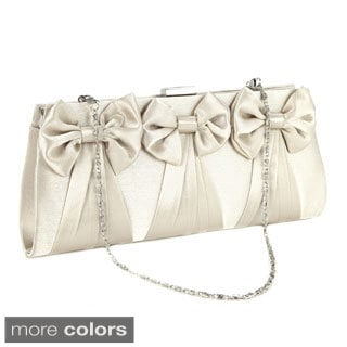 Satin Bow Clutch Evening Handbag