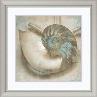 John Seba 'Coastal Gems IV' Framed Art Print 29 x 29-inch