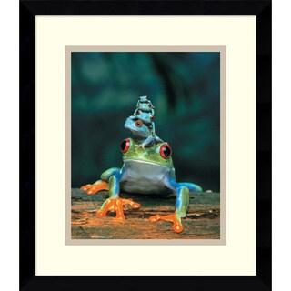 'Frogs' Framed Art Print 13 x 15-inch