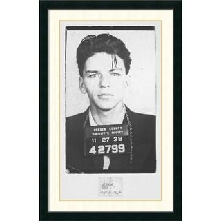 'Frank Sinatra Mugshot' Framed Art Print 28 x 43-inch
