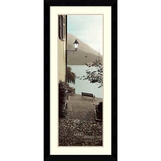 Alan Blaustein 'Panchina di Lago' Framed Art Print 20 x 43-inch