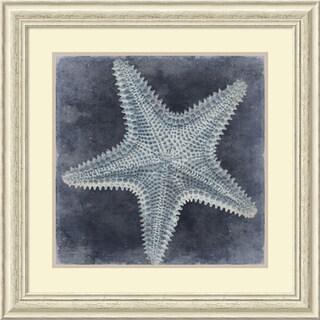 Caroline Kelly 'Ocean Blue I' Framed Art Print 29 x 29-inch
