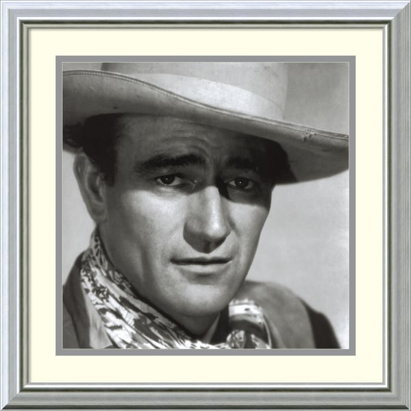 Celebrity Photography 'John Wayne, 1943' Framed Art Print 19 x 19-inch