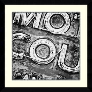Keith Dotson 'Motor Court Neon' Framed Art Print 33 x 33-inch
