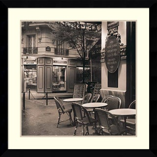 Alan Blaustein 'Cafe, Montmartre' Framed Art Print 33 x 33-inch