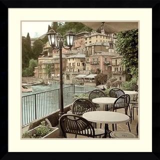 Alan Blaustein 'Porto Caffe, Italy' Framed Art Print 33 x 33-inch