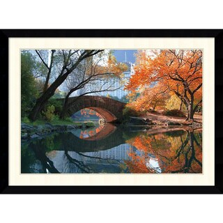 Michael Chen 'Gapstow Bridge, Fall' Framed Art Print 43 x 32-inch