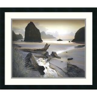 William Vanscoy 'She Sleeps In The Sand' Framed Art Print 26 x 22-inch