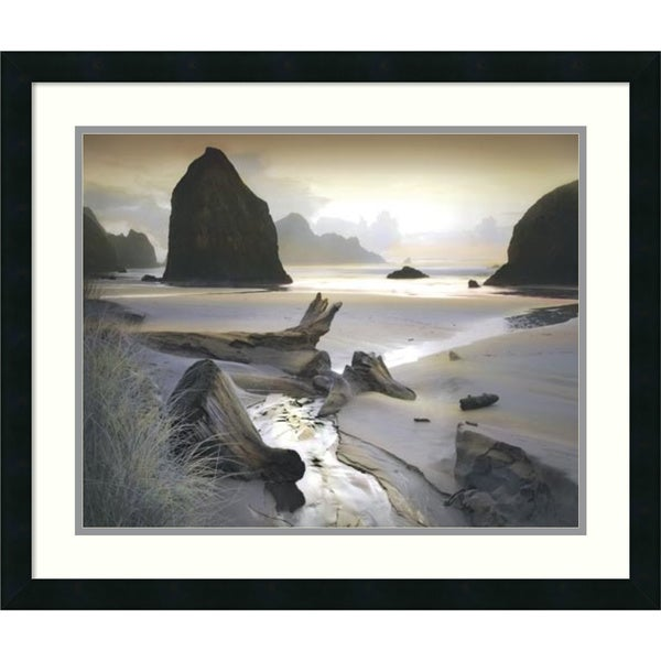 William Vanscoy 'She Sleeps In The Sand' Framed Art Print 26 x 22-inch