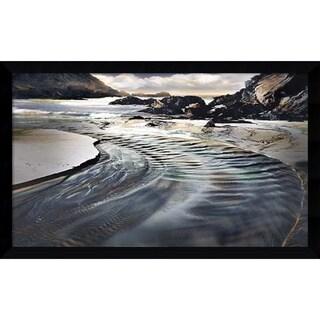 William Vanscoy 'Jeweled Coastline' Framed Art Print 43 x 26-inch