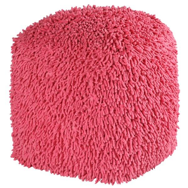 19-inch Pink Shagadelic Chenille Pouf