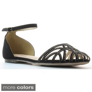 DBDK Women's 'Down-5' Studded Strappy D'orsay Flats