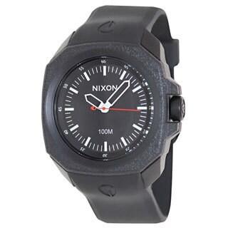 Nixon Men's Ruckus A349001 Black Rubber Quartz Watch with Black Dial