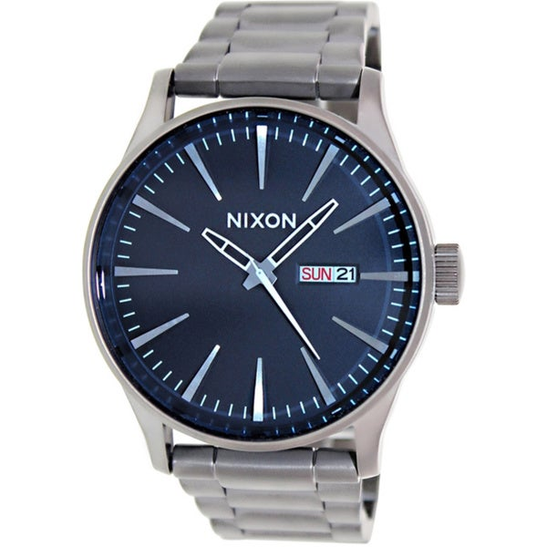 Nixon Men's Sentry Ss A3561427 Grey Stainless Steel Quartz Watch with Grey Dial