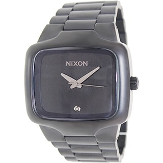 Nixon Men's The Big Player A487524 Black Stainless Steel Quartz Watch with Black Dial