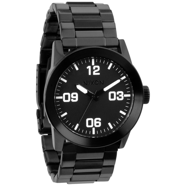 Nixon Men's Private SS A276001 Black Stainless Steel Quartz Watch with Black Dial